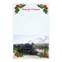 Home on the Train for Christmas Stationery