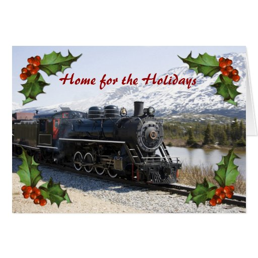Home on the Train for the Holidays Card