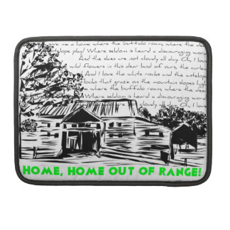 """""""Home Out of Range"""" - Decorative, Humorous Motif Sleeve For MacBooks"""