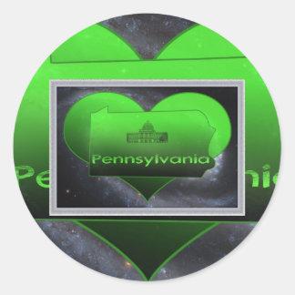Home Pennsylvania, Home Pennsylvania Classic Round Sticker