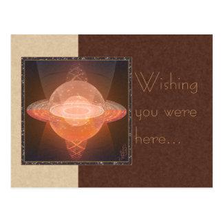 Home Planet Abstract Art Postcard