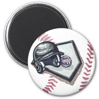 Home Plate Baseball Graphics by Mudge Studios Magnet