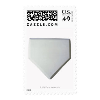 Home plate postage stamp