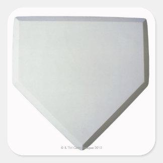 Home plate square sticker