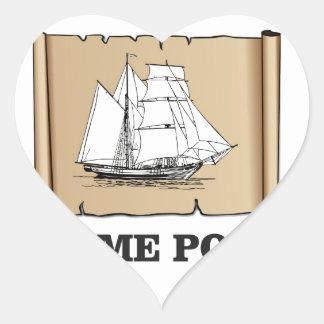 home port go heart sticker