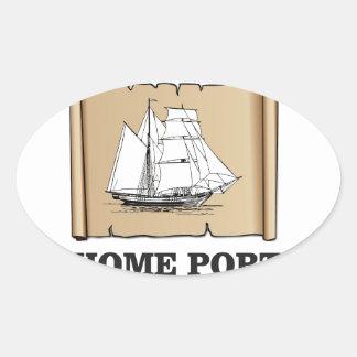 home port go oval sticker