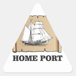 home port go triangle sticker