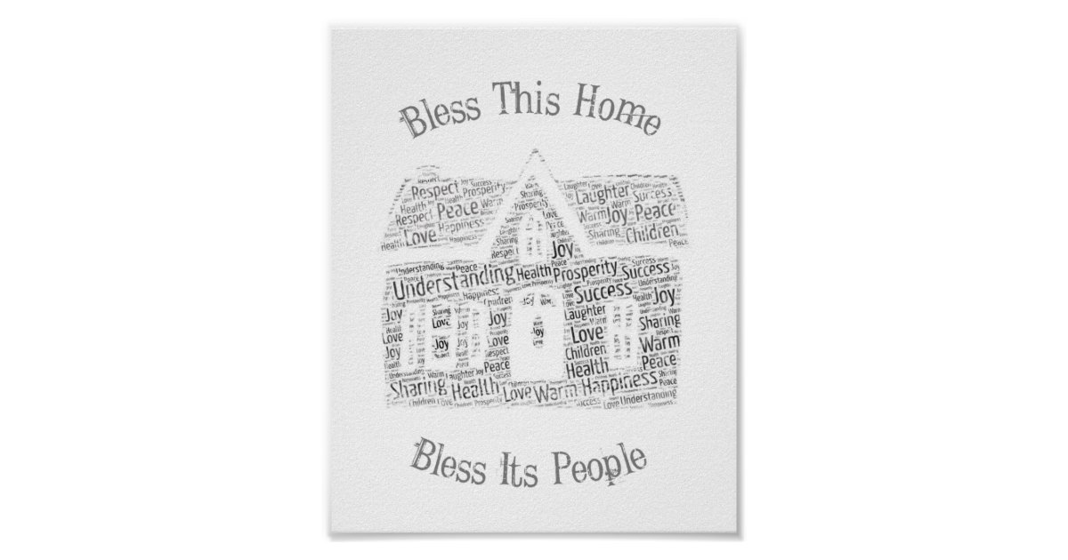 Home Prayer Blessing - Word Cloud Poster | Zazzle com