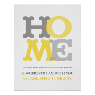 Home print or poster customize personalize