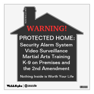 Home Protected Warning Decal