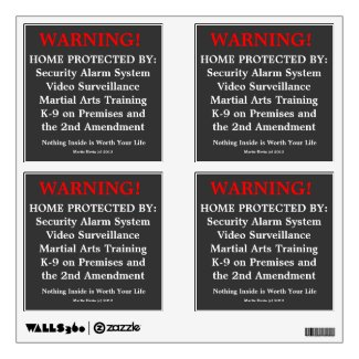 Home Protected Warning Decals