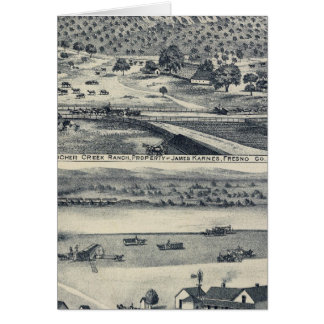 Home Ranches in Fresno, California Greeting Card