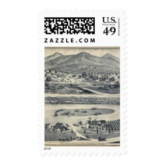 Home Ranches in Fresno, California Postage Stamps