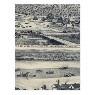 Home Ranches in Fresno, California Postcard