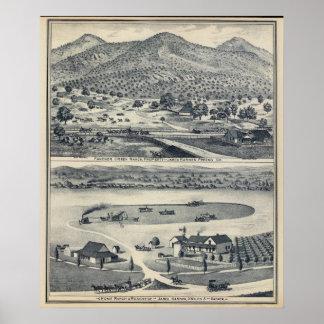 Home Ranches in Fresno, California Poster