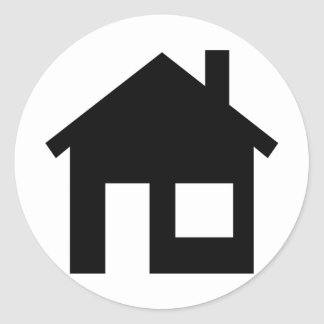Home real estate classic round sticker
