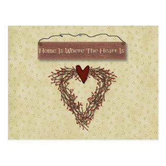 Home Recipe Card Post Card