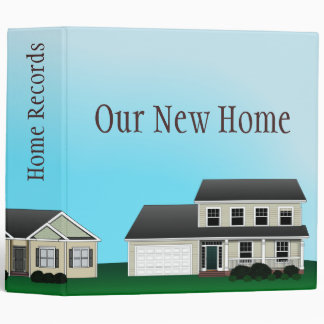 Home Records Customizable Binder