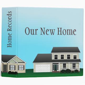 Home Records Customizable Binder
