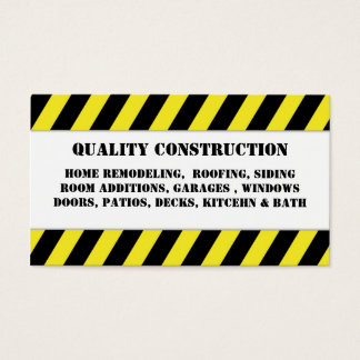 Home Remodeling Construction Business Card