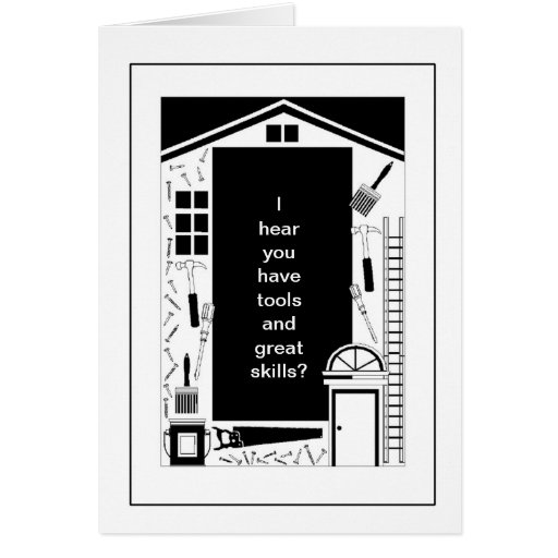 Home Renovation Remodel Tools House Illustration Greeting Card