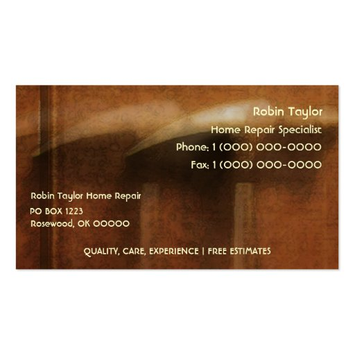 Home repair hammers business card zazzle for Home repair business cards