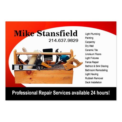 Phone Repair Business Card Home Repair Business Card