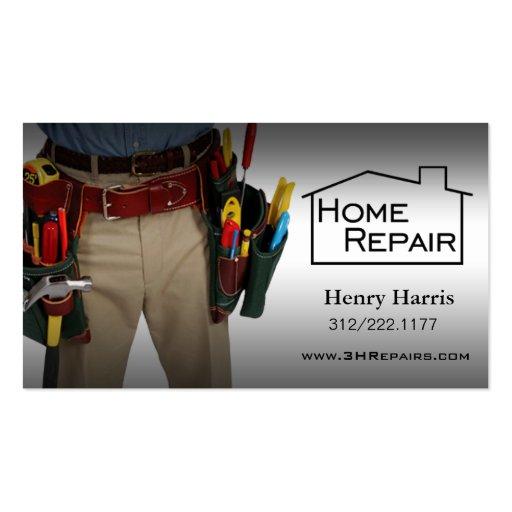 Home repair handyman double sided standard business cards for Home repair business cards