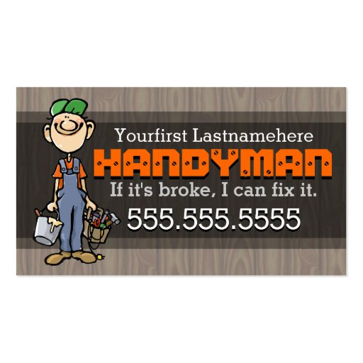 Home repairhandymanremodelingcarpenterpainter standard for Home repair business cards