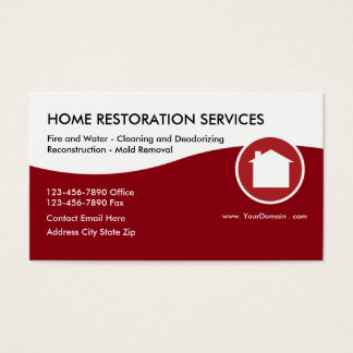 Home Restoration Services Business Card