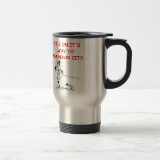 home run 15 oz stainless steel travel mug