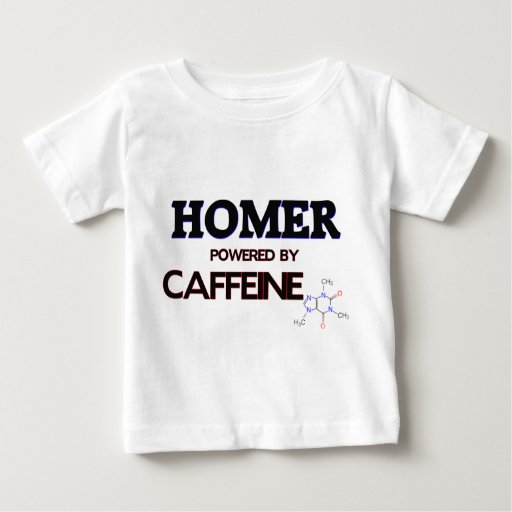 Home run accionado por el cafeína playeras