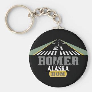 Home run Alaska - pista del aeropuerto Llavero Redondo Tipo Pin