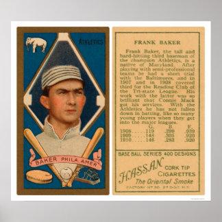 Home Run Baker Baseball 1911 Poster