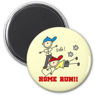 Home Run Boys Baseball Tshirts and Gifts 2 Inch Round Magnet