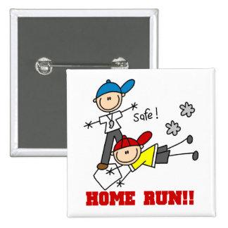 Home Run Boys Baseball Tshirts and Gifts Pinback Button
