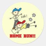 Home Run Boys Baseball Tshirts and Gifts Classic Round Sticker