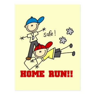 Home Run Boys Baseball Tshirts and Gifts Postcard