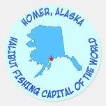 Home run, capital de la pesca del halibut de Alask Etiqueta