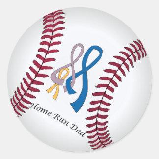 Home Run Dad Classic Round Sticker