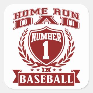 Home Run Dad Square Sticker