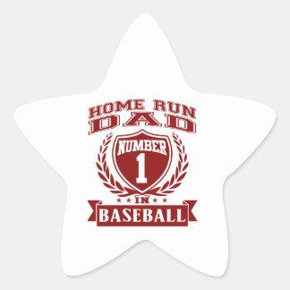 Home Run Dad Star Sticker