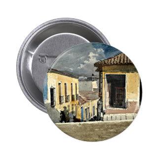 Home run: Escena de la calle de Santiago de Cuba Pin Redondo 5 Cm