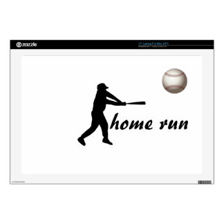 "Home Run Game Team Coach Sports Ball Fun Baseball 17"" Laptop Decal"