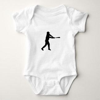 Home Run Game Team Coach Sports Ball Fun Baseball Baby Bodysuit
