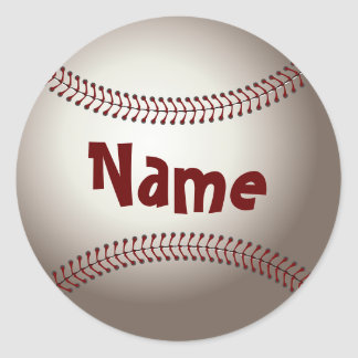 Home Run Game Team Coach Sports Ball Fun Baseball Classic Round Sticker