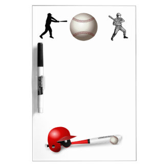 Home Run Game Team Coach Sports Ball Fun Baseball Dry-Erase Board