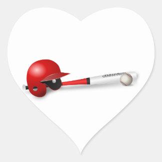 Home Run Game Team Coach Sports Ball Fun Baseball Heart Sticker