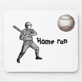 Home Run Game Team Coach Sports Ball Fun Baseball Mouse Pad