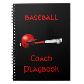 Home Run Game Team Coach Sports Ball Fun Baseball Notebook